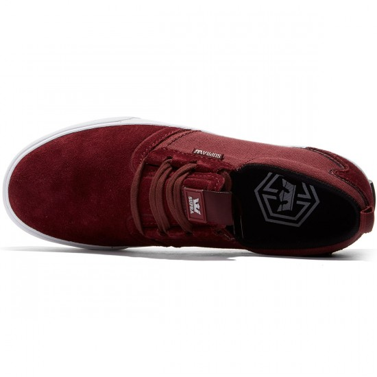Supra Flow Shoes - Burgundy/White - 8.0