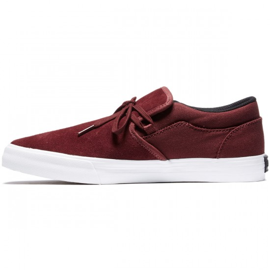 Supra Cuba Shoes - Burgundy/White - 8.0