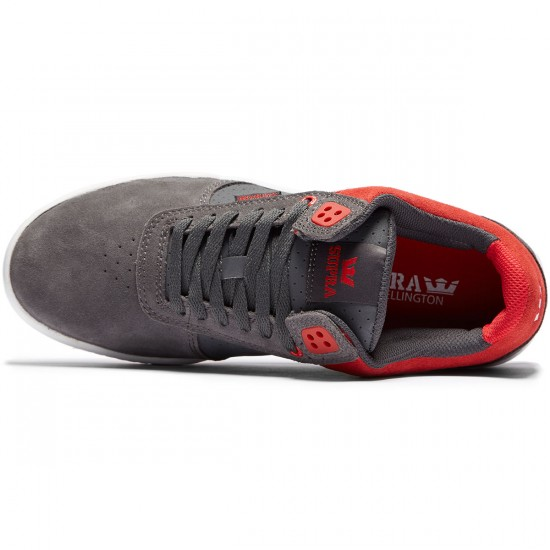 Supra Ellington Shoes - Dark Grey/Red White - 8.0