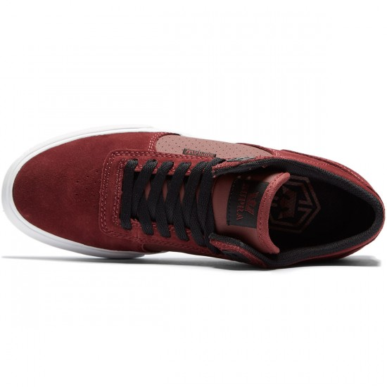 Supra Ellington Vulc Shoes - Burgundy/Black/White - 8.0