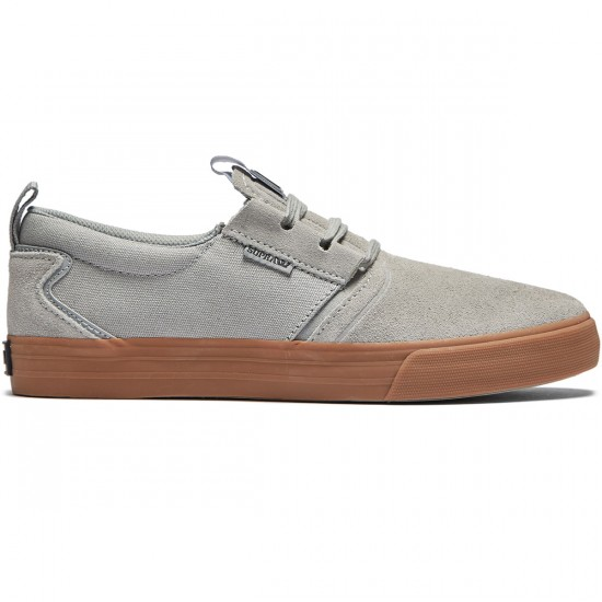 Supra Flow Shoes - Grey/Dark Grey/Gum - 8.0