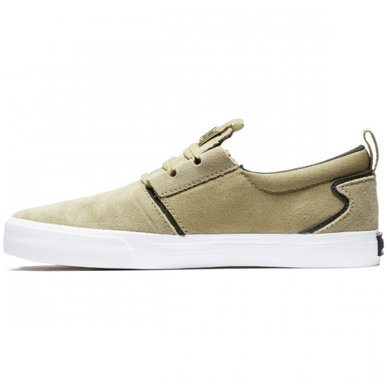 Supra Flow Shoes - Tan/Dark Olive/White - 8.0