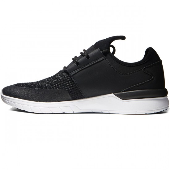 Supra Flow Shoes - Black/Black/White - 8.0