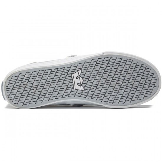 Supra Cuba Shoes - Light Grey/White - 8.0