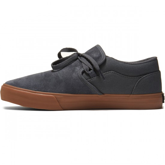 Supra Cuba Shoes - Dark Grey/Gum - 8.0