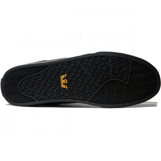 Supra Ellington Vulc Shoes - Black/Amber Gold/Black - 8.0