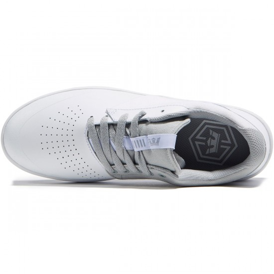 Supra Shifter Shoes - White/Light Grey - 8.0