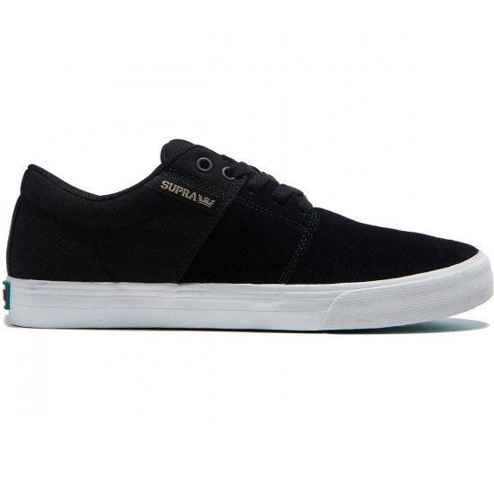 Supra Stacks Vulc II Shoes - Black/White - 8.0
