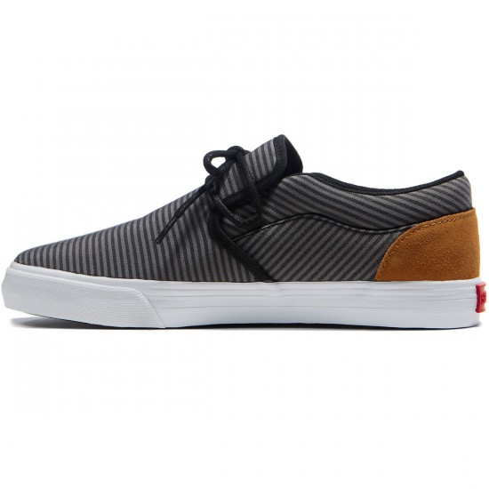 Supra Cuba Shoes - Black/Grey/White - 8.0