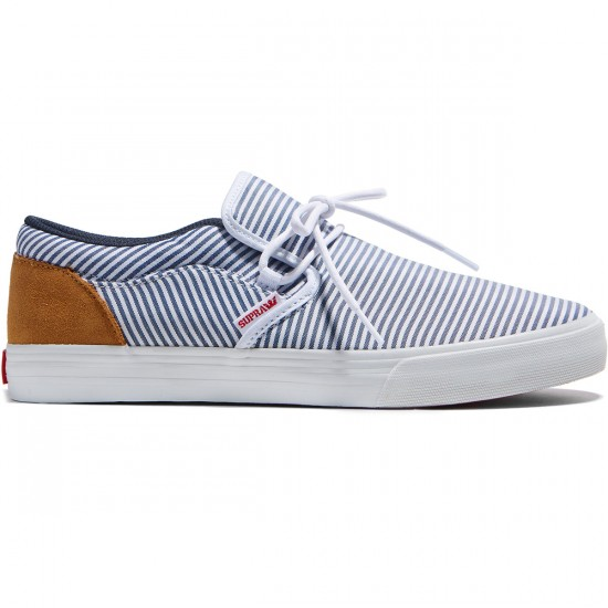 Supra Cuba Shoes - White/Navy - 8.0
