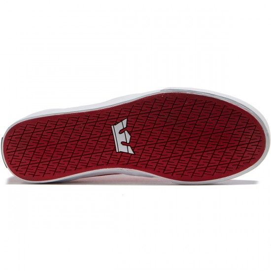 Supra Flow Shoes - Red/White - 8.0
