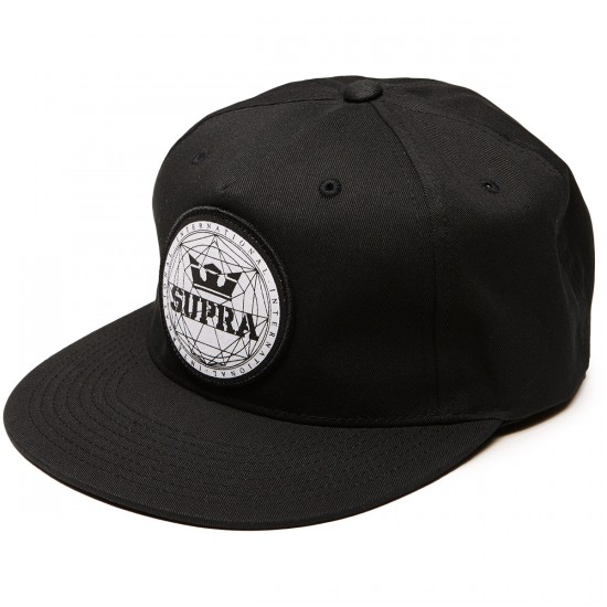 Supra Geo Patch Slider Hat - Black