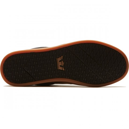 Supra Chino Court Shoes - Black/Gum - 8.0