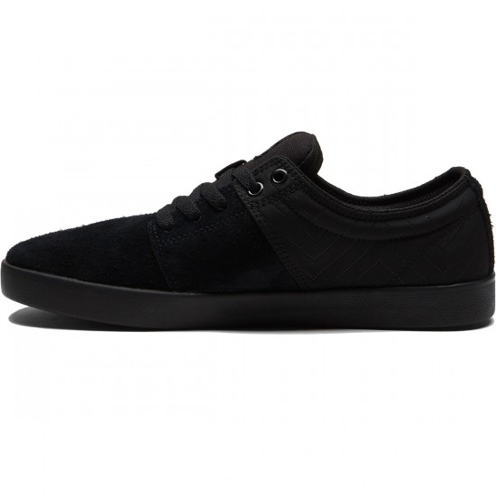 Supra Stacks II Shoes - Black/Silver/Black - 8.0