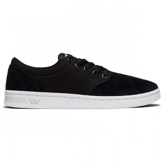 Supra Chino Court Shoes - Black/White - 8.0