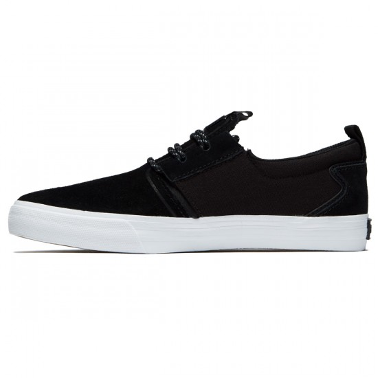 Supra Flow Shoes - Black/Black/White