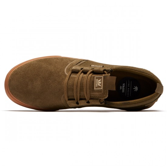 Supra Flow Shoes - Olive/Gum - 8.0