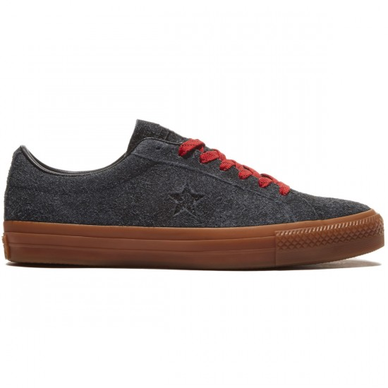 Converse One Star Pro Suede Shoes - Black/Casino/Gum - 8.0