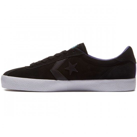 Converse Cons Break Point Suede Shoes - Black/Candy Grape/White - 8.0