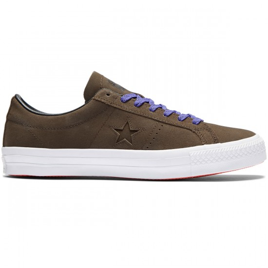 Converse One Star Pro Shoes - Hot Cocoa/Black/White - 8.5