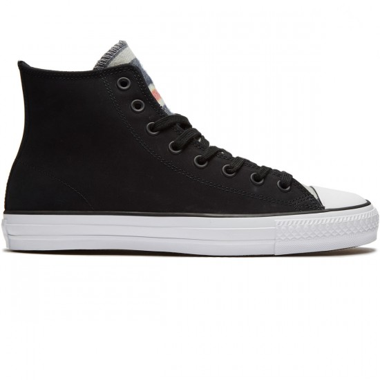 Converse CTAS Pro Blanket Stripe Shoes - Black/White/Black - 8.0
