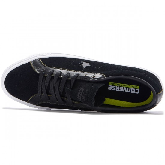 Converse One Star Pro Ox Shoes - Black/White/Black - 8.0