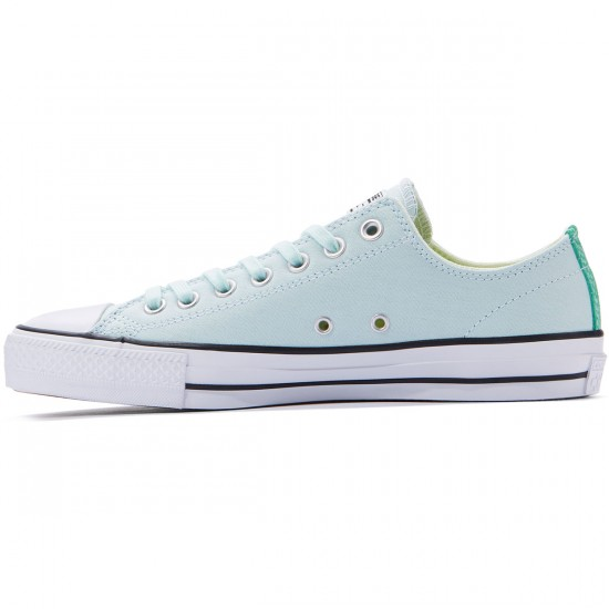 Converse CTAS Pro OX Suede Backed Shoes - Fiberglass/Green Glow/Black - 8.0