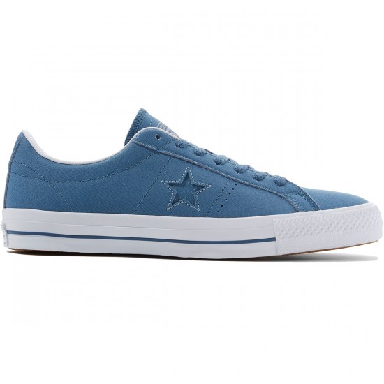 Converse One Star Pro Ox Shoes - Blue Coast/Blue Granite/White - 8.0