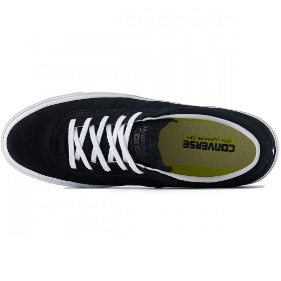 Converse One Star CC OX Suede Shoes - Black/White/White - 8.0