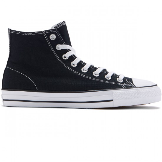 Converse CTAS Pro Hi Shoes - Black/White/Black