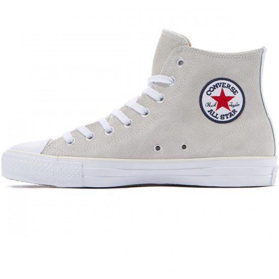 Converse CTAS Pro Hi Louie Lopez Suede Shoes - Buff/White/Casino - 8.0
