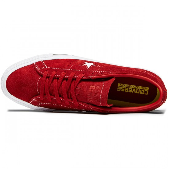 Converse One Star Pro Shoes - Terra Red/Terra Red Suede - 8.0