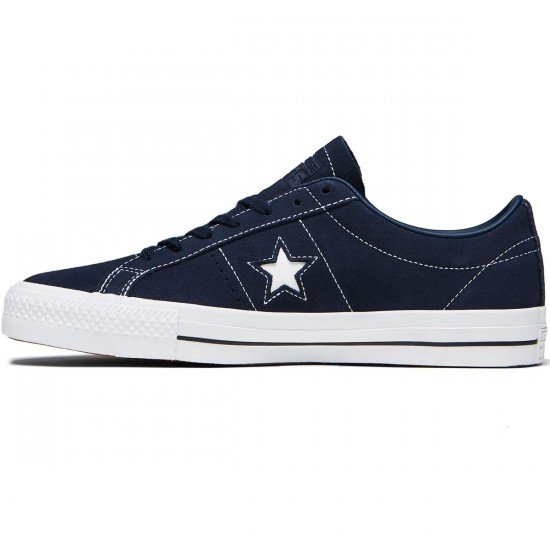Converse One Star Pro Shoes - Obsidian/Obsidian/White Suede - 8.0