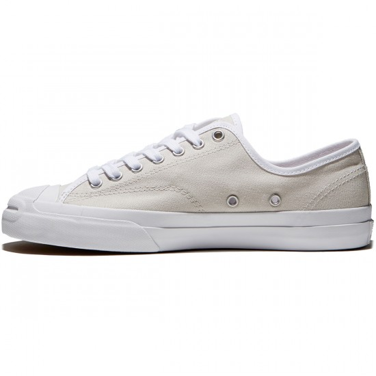 Converse Jack Purcell Pro Ox Shoes - Pale Putty/White/White Canvas - 7.0