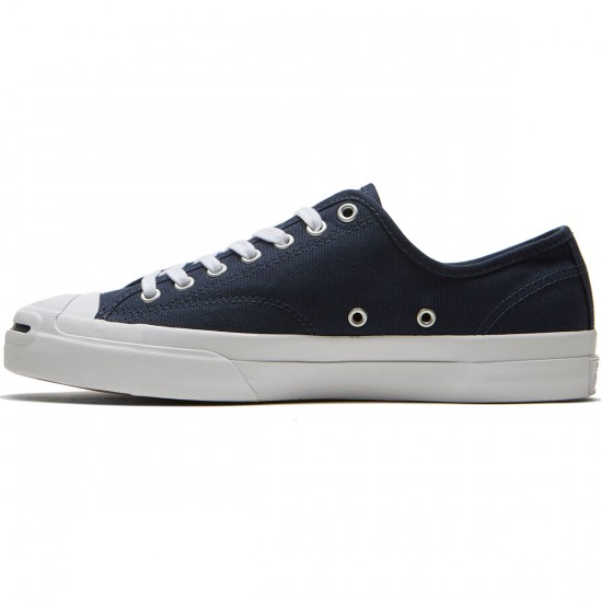 Converse Jack Purcell Pro Ox Shoes - Obsidian/Obsidian/White Canvas