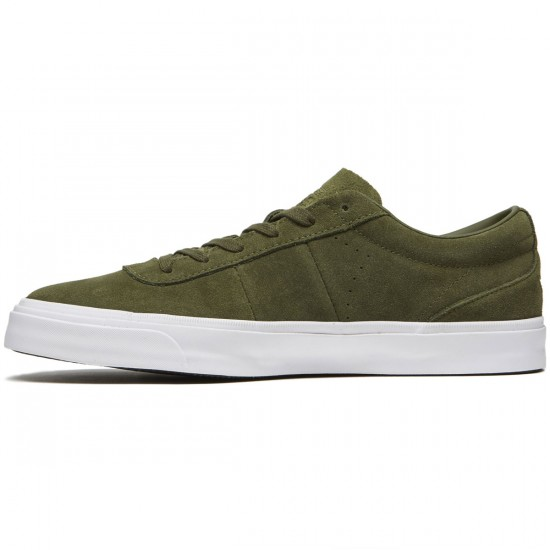 Converse One Star CC Low Shoes - Herbal/Herbal/White Suede - 8.0