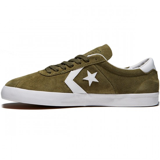 Converse Break Point Pro Low Shoes - Medium Olive/White Suede - 10.0