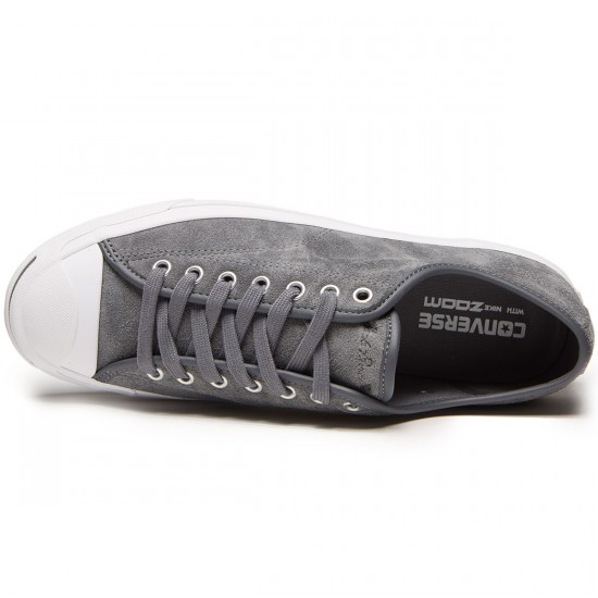 Converse Jack Purcell Pro Ox Shoes - Thunder/White - 7.0