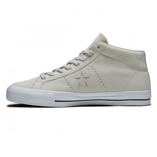 Converse One Star CC Ox Oiled Suede Mid Shoes - Pale Putty