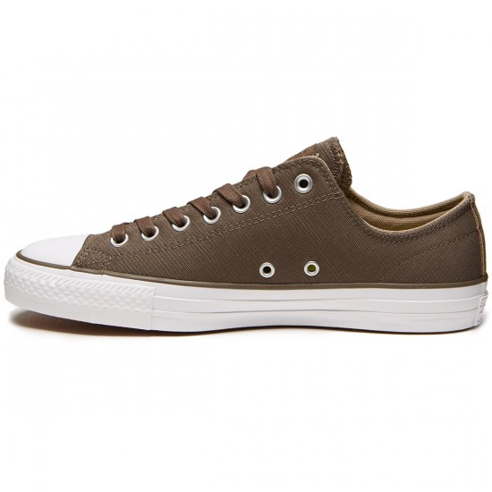 Converse CTAS Pro Suede Backed Twill Shoes - Engine Smoke/Sandy/White - 8.0