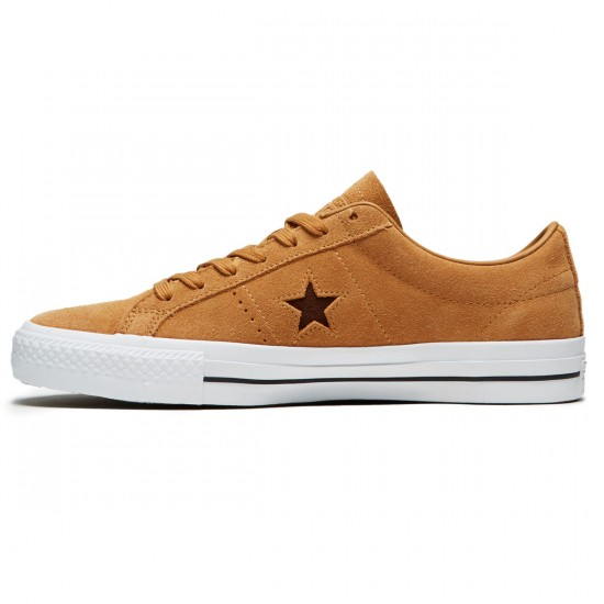 Converse One Star Pro Ox Oiled Suede  Shoes - Raw Sugar/Dark Clove - 10.0