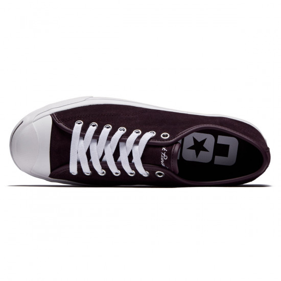 Converse Jack Purcell Pro Shoes - Black Cherry/White/White - 7.0