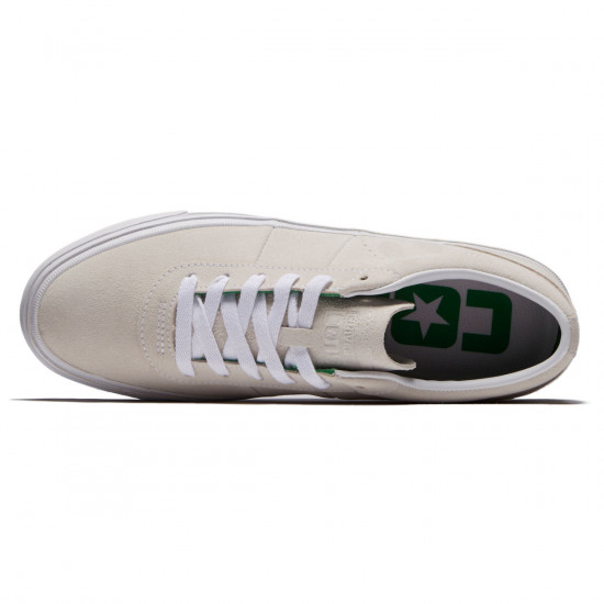 Converse One Star CC Pro Ox Shoes - White/Green/White - 8.0
