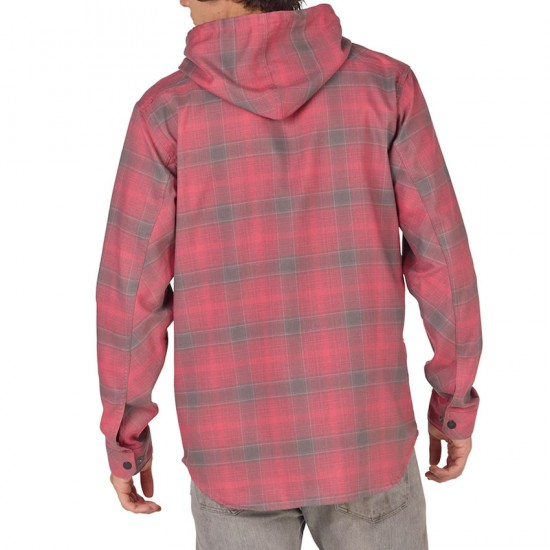 Analog Kaiden Hooded Flannel Shirt - Heathers/Pacific Plaid