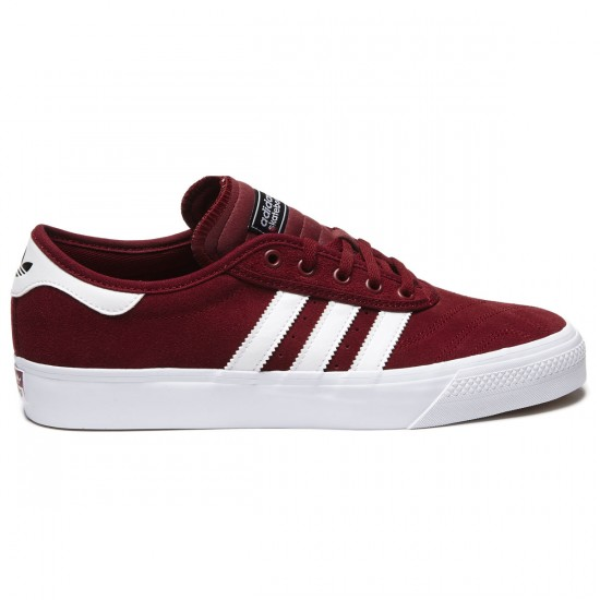 Adidas Adi-Ease Premiere Shoes - Burgundy/White/Black - 8.0