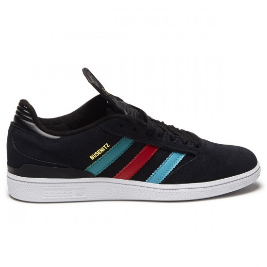 Adidas Busenitz Shoes - Black/Green/Scarlet - 8.0