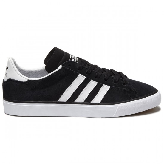 Adidas Campus Vulc II Shoes - Black/White/White - 8.0
