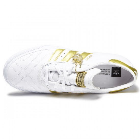Adidas Adi Ease Premiere Away Days Shoes - White/Gold Metallic/Gum - 7.0