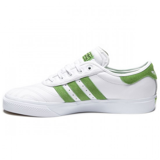 Adidas Adi Ease Premiere Away Days Shoes - White/Semi Solar Lime/Gum - 7.0