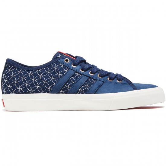 Adidas Matchcourt RX LTD Shoes - Indigo/Chalk White/Scarlet - 8.0